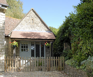 the exterior of Orchard Cottage